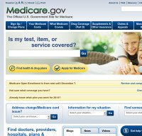 medicare.gov screenshot