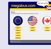 megabus.com screenshot