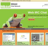 mibbit.com screenshot