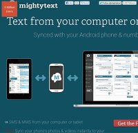 mightytext.net screenshot