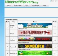 minecraftservers.org screenshot