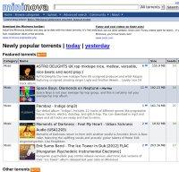 mininova.org screenshot