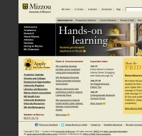 missouri.edu screenshot