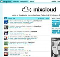 mixcloud.com screenshot
