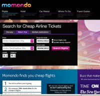 momondo.com screenshot
