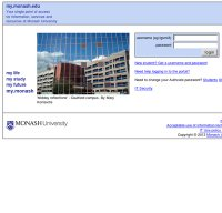 monash.edu.au screenshot
