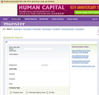 monsterindia.com screenshot