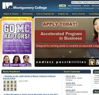 montgomerycollege.edu screenshot