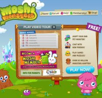 moshimonsters.com screenshot