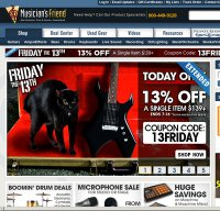 musiciansfriend.com screenshot