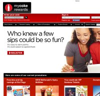 mycokerewards.com screenshot