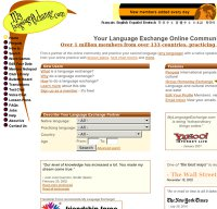 mylanguageexchange.com screenshot