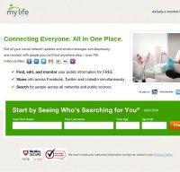 mylife.com screenshot