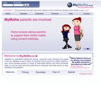 mymaths.co.uk screenshot