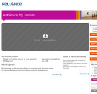 myservices.relianceada.com screenshot