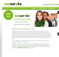 mysurvey.com screenshot