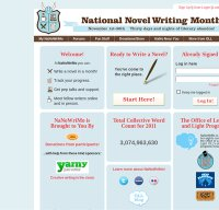 nanowrimo.org screenshot