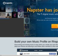 napster.com screenshot