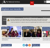 nationalarchives.gov.uk screenshot