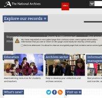 nationalarchives.gov.uk screenshot