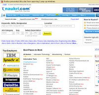 naukri.com screenshot