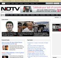 ndtv.com screenshot