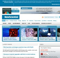 newscientist.com screenshot