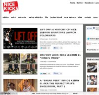 nicekicks.com screenshot