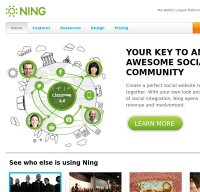 ning.com screenshot