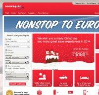 norwegian.com screenshot