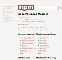 npmjs.org screenshot