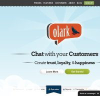 olark.com screenshot