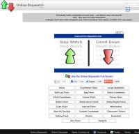 online-stopwatch.com screenshot