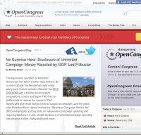 opencongress.org screenshot