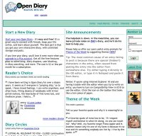 opendiary.com screenshot