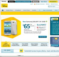 optus.com.au screenshot