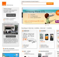 orange.fr screenshot
