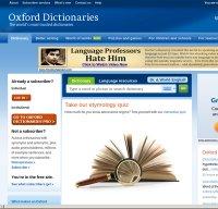 oxforddictionaries.com screenshot