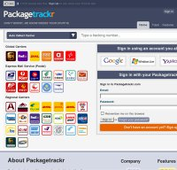 packagetrackr.com screenshot