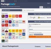 packagetrackr.com screenshot