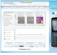 pandora.com screenshot