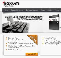 paxum.com screenshot