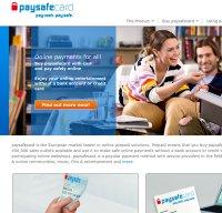 paysafecard.com screenshot