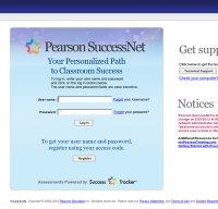 pearsonsuccessnet.com screenshot