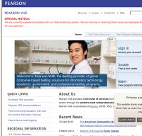 pearsonvue.com screenshot