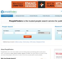 peoplefinders.com screenshot