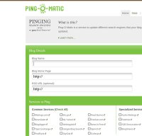 pingomatic.com screenshot