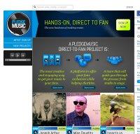pledgemusic.com screenshot
