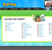 pokemon.com screenshot