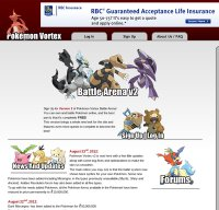 pokemonvortex.org screenshot